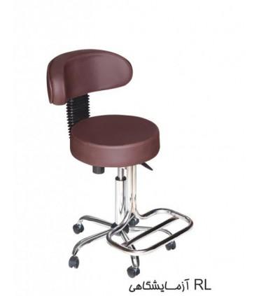 صندلی پزشکی چرمی مدل آزمایشگاهی RL پایه دار P-Chair-Doctor-02