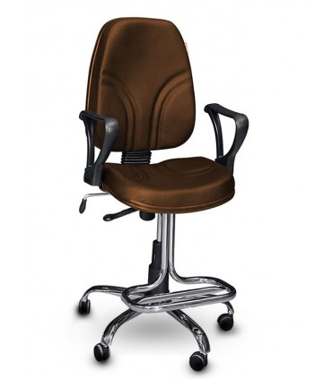 صندلی کارمندی چرمی مدل P-Chair-150RL