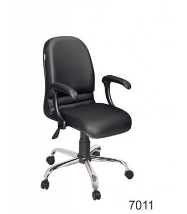 صندلی کارمندی چرمی مدل P-Chair-7011